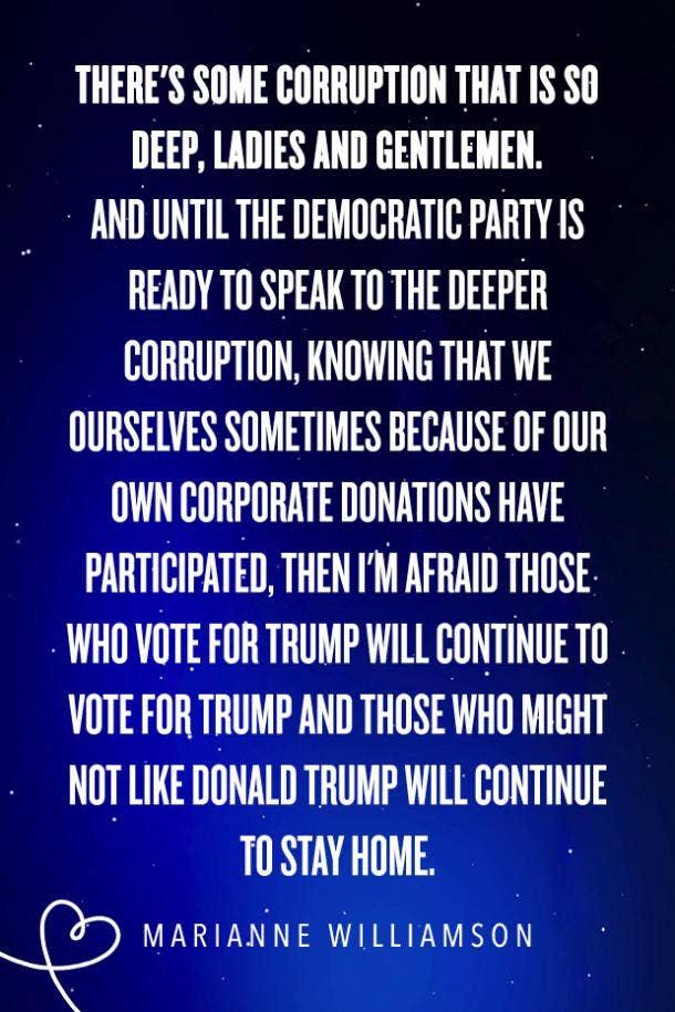 Marianne Williamson quotes democratic debate presidential candidate