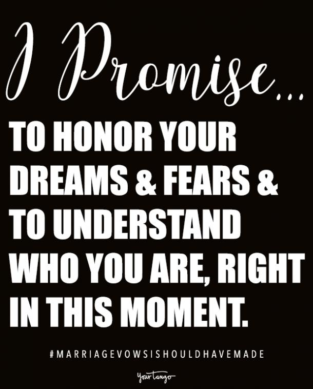 promises to make in vows