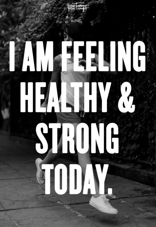 morning affirmation healthy and strong