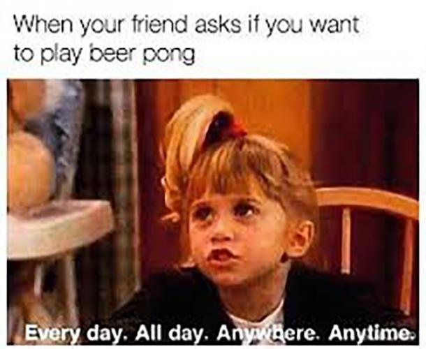 beer memes ask your friend if you want to play beer pong