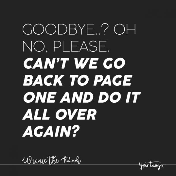 winnie the pooh sad goodbye quote