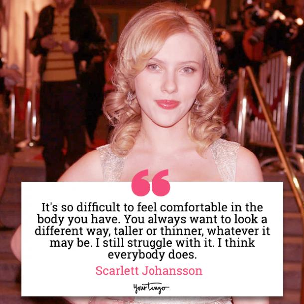 20 Scarlett Johansson Quotes About How To Be Happy Confident In Your Body Yourtango