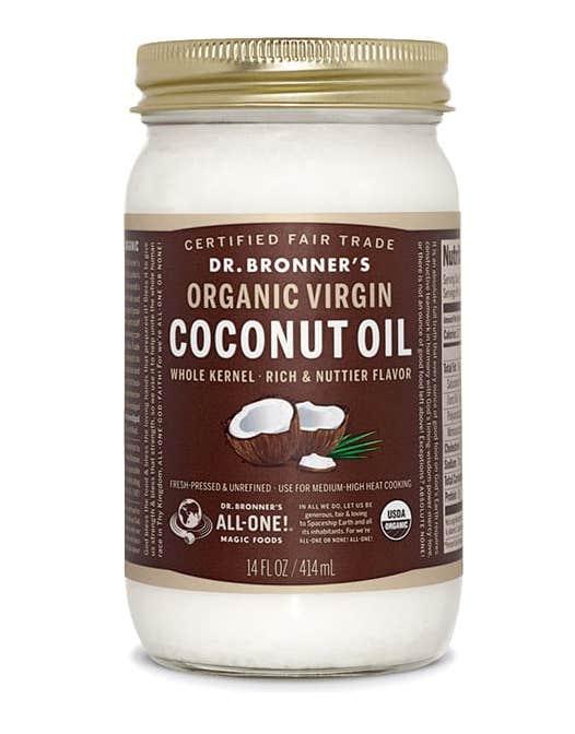 best coconut oil for skin face body hair dr bronners fair trade organic white whole virgin coconut oil