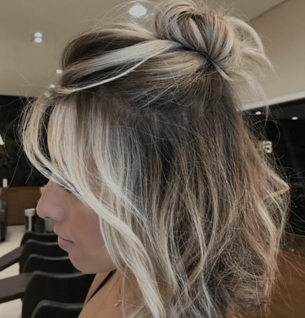 35 Best Half Up Bun Hairstyles That Don T Look Messy Yourtango