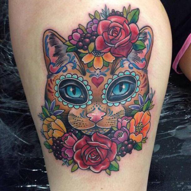 50 Best Sugar Skull Tattoo Designs What The Tattoos Mean