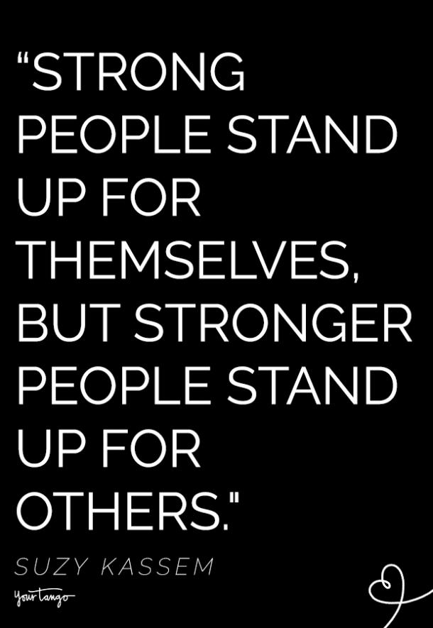 suzy kassem quote about standing up for what's right