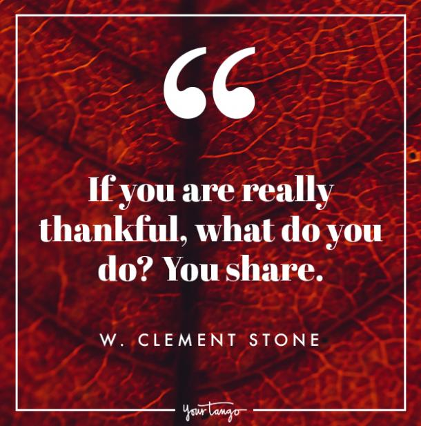 W Clement Stone Thanksgiving quote