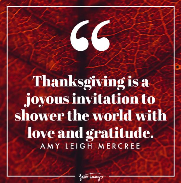 Amy Leigh Mercree Thanksgiving quote