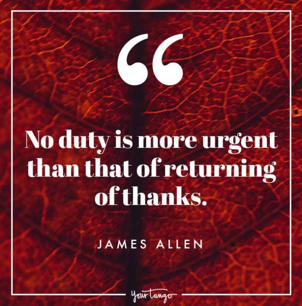 James Allen Thanksgiving quote