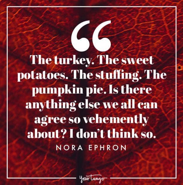 Nora Ephron Thanksgiving quote