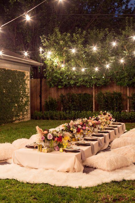 Bohemian Backyard Dinner Party
