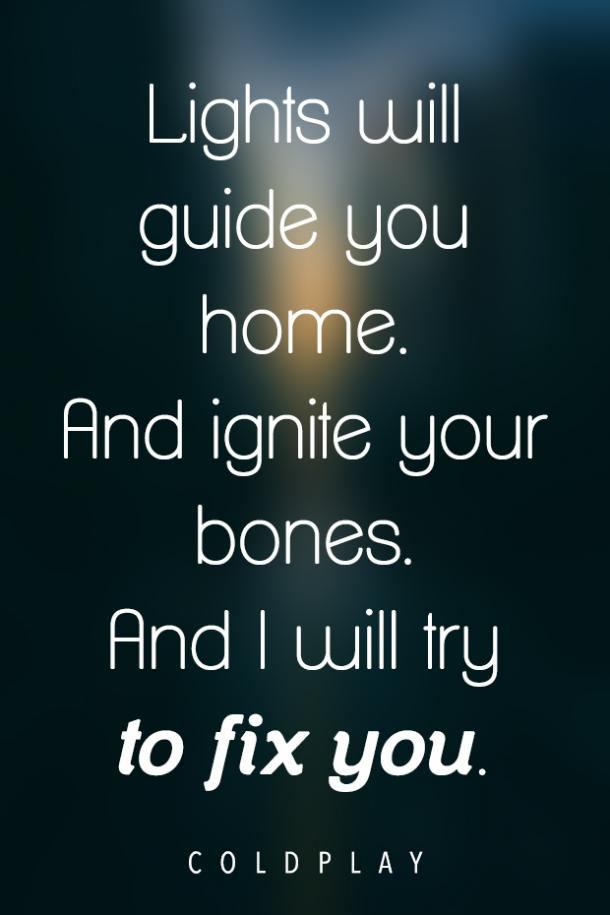 Fix You love song lyrics