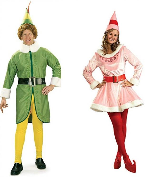 Buddy the Elf and Jovie couples costume