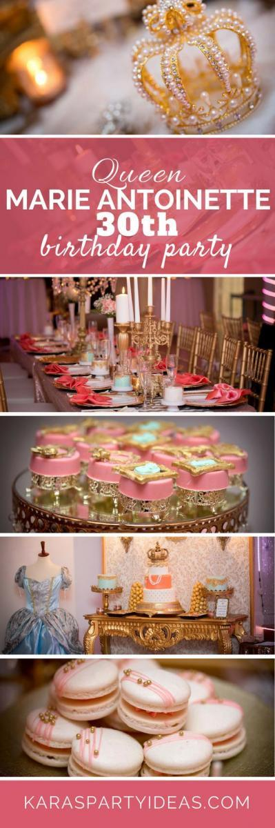 Marie Antoinette adult birthday party idea