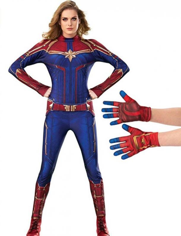 Captain Marvel Halloween costume for Taurus