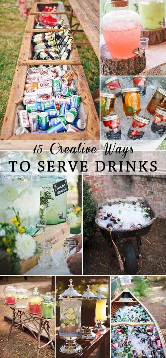 creative drink serving Ideas for adult birthday party