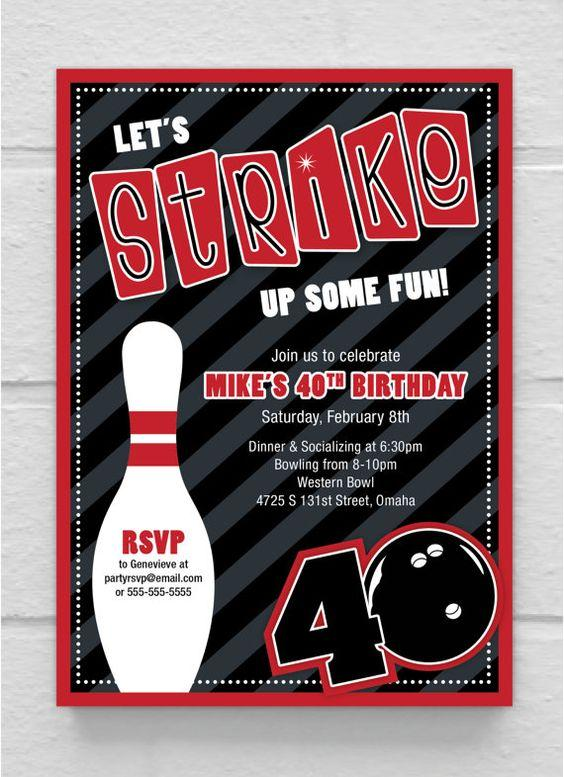Bowling adult birthday party idea