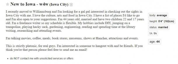Iowa city personals