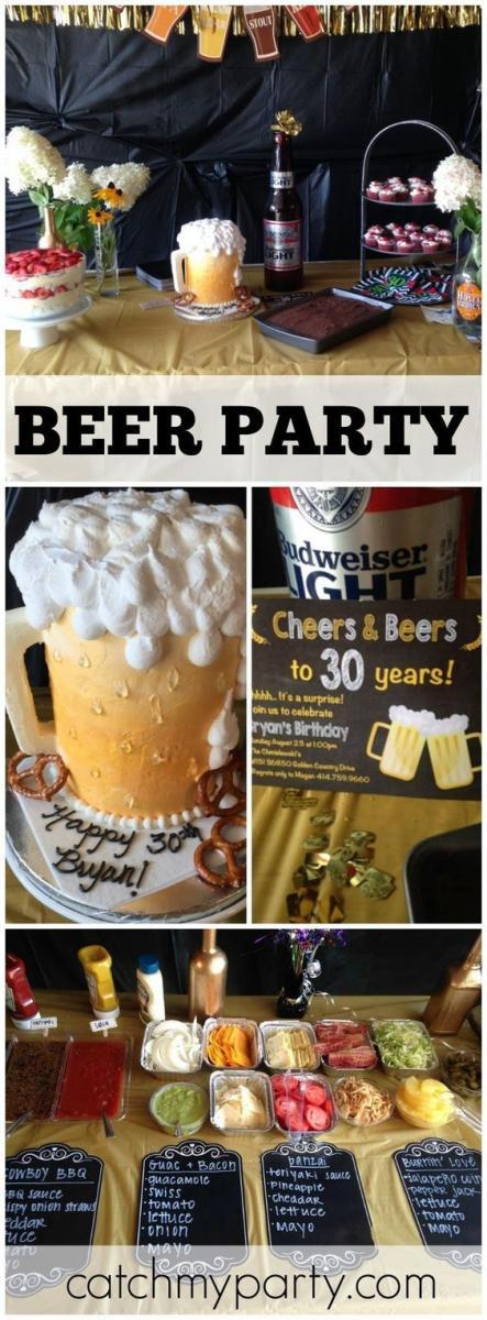 Beer lover adult birthday party idea