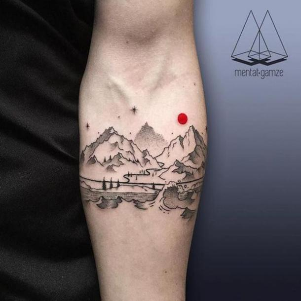 6. Mountain and water landscape