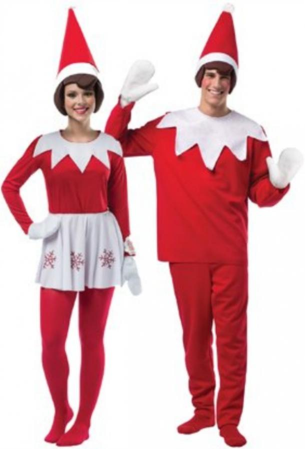 elf on the shelf couples costume set
