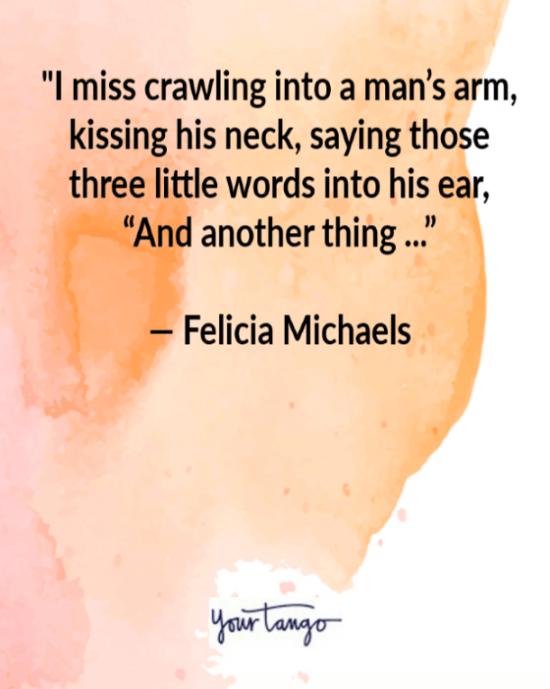 Felicia Michaels funny love quote