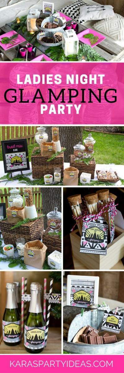 glamping adult birthday party idea