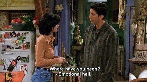 monica geller and ross geller Friends TV show quotes