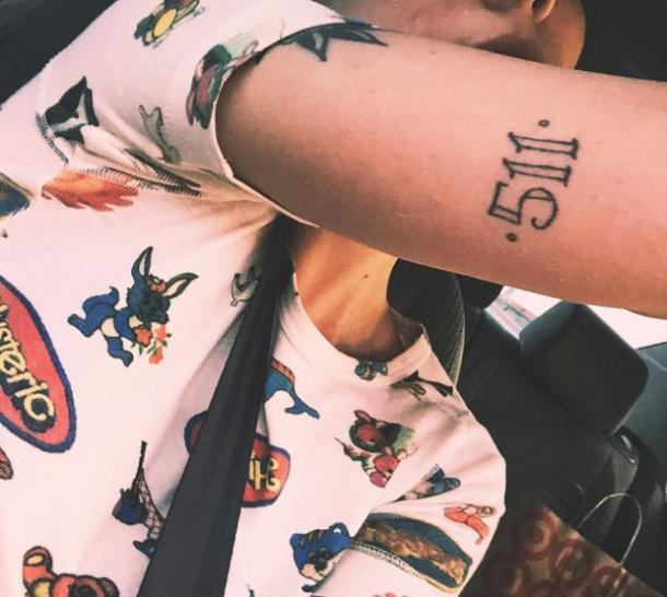 0c62f1e1b All Photos Of Halsey's Tattoos And Their Meaning And Symbolism ...