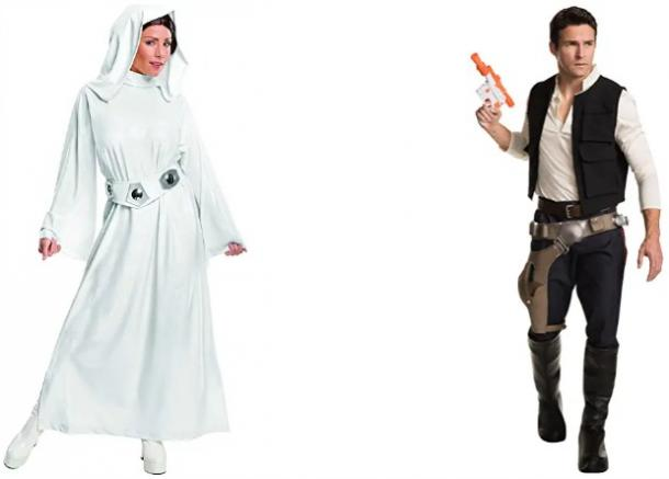 Han Solo Princess Leia Couples Costume