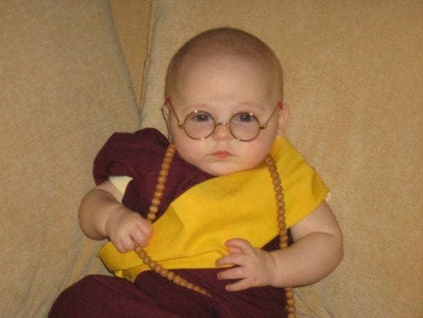 Gandhi baby Halloween costume