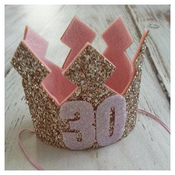 glitter birthday girl crown adult birthday party idea