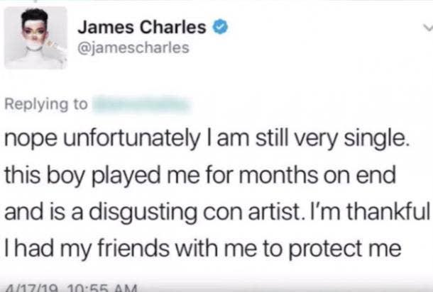 James Charles deleted tweet