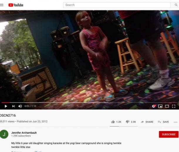 Jennifer Archambault YouTube video of Danielle Cohn