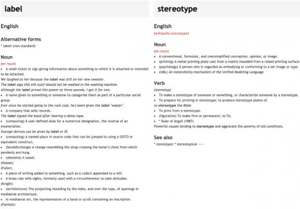 what are stereotypes vs labels