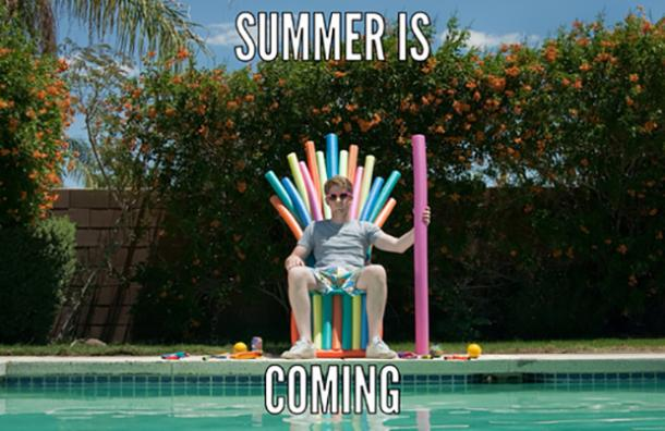 funny pool memes first day of summer