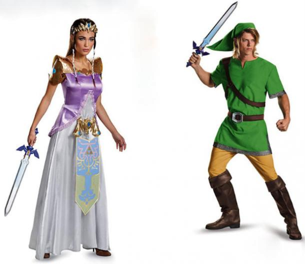 Link and Zelda couples costume