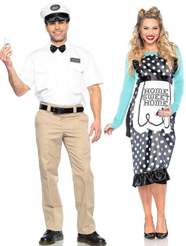 Milkman and housewife couples costume