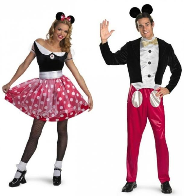 Minnie and Mickey Mouse couples costume