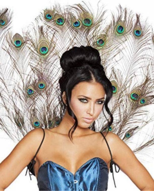 Peacock Halloween costume for Virgo