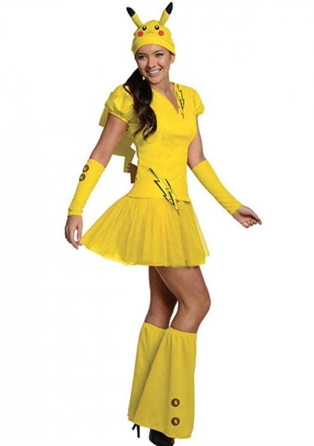 Pikachu Halloween costume for Aries