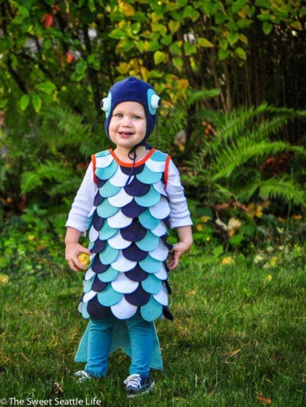 Rainbow Fish kids Halloween costume