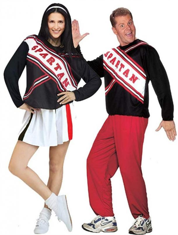 Spartan cheerleaders couples costume