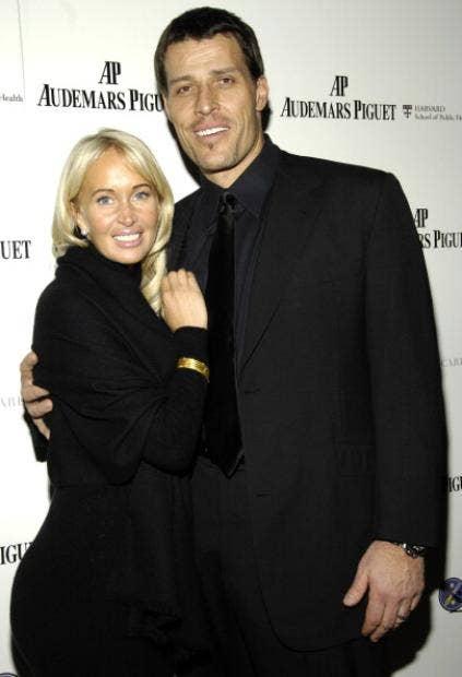 Tony Robbins mit niedlicher, Ehefrau Bonnie Robbins