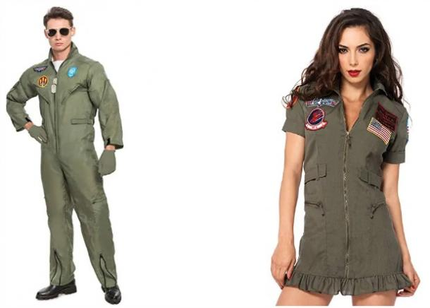 Top Gun fighter pilots couples costume