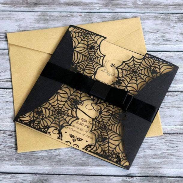 halloween wedding ideas invitation