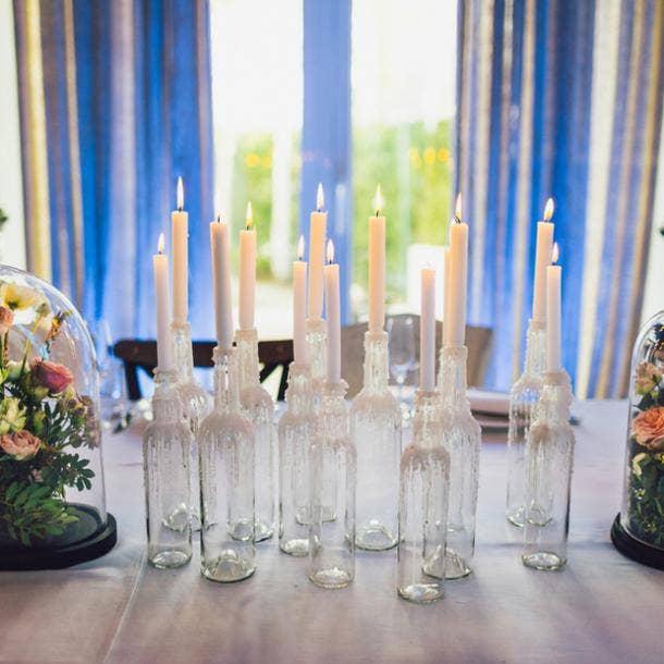 halloween wedding ideas glass bottles