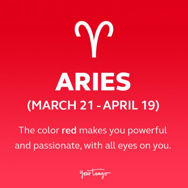 Aries power color red