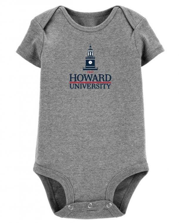 Carters HBCU collection Howard University onesie