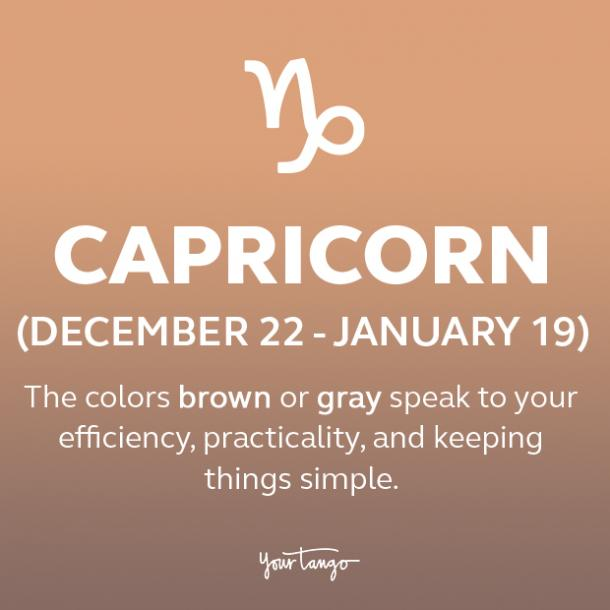 Capricorn power color gray or brown